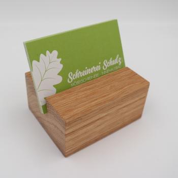 Holz Hält Schreinerei Schulz Visitenkartenhalter